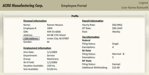 Payroll Employee Details - Lynea Paradis